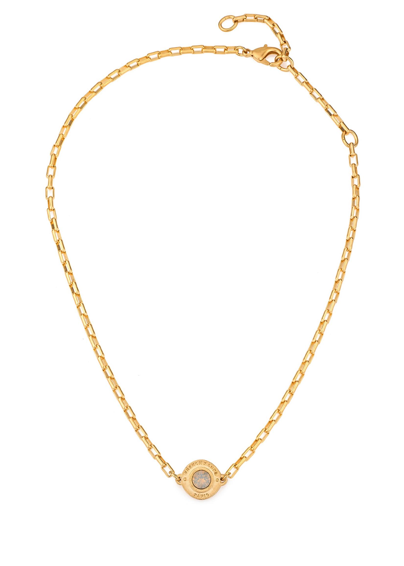 French Kande Loire Swarovski Annecy Necklace Gold