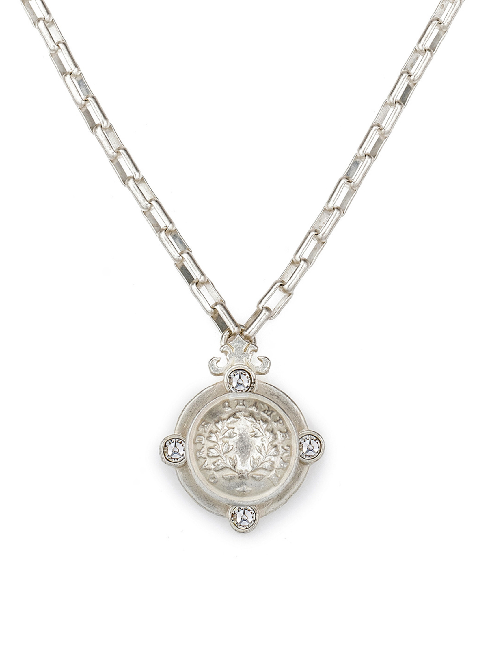 French Kande Loire Arles Necklace Silver