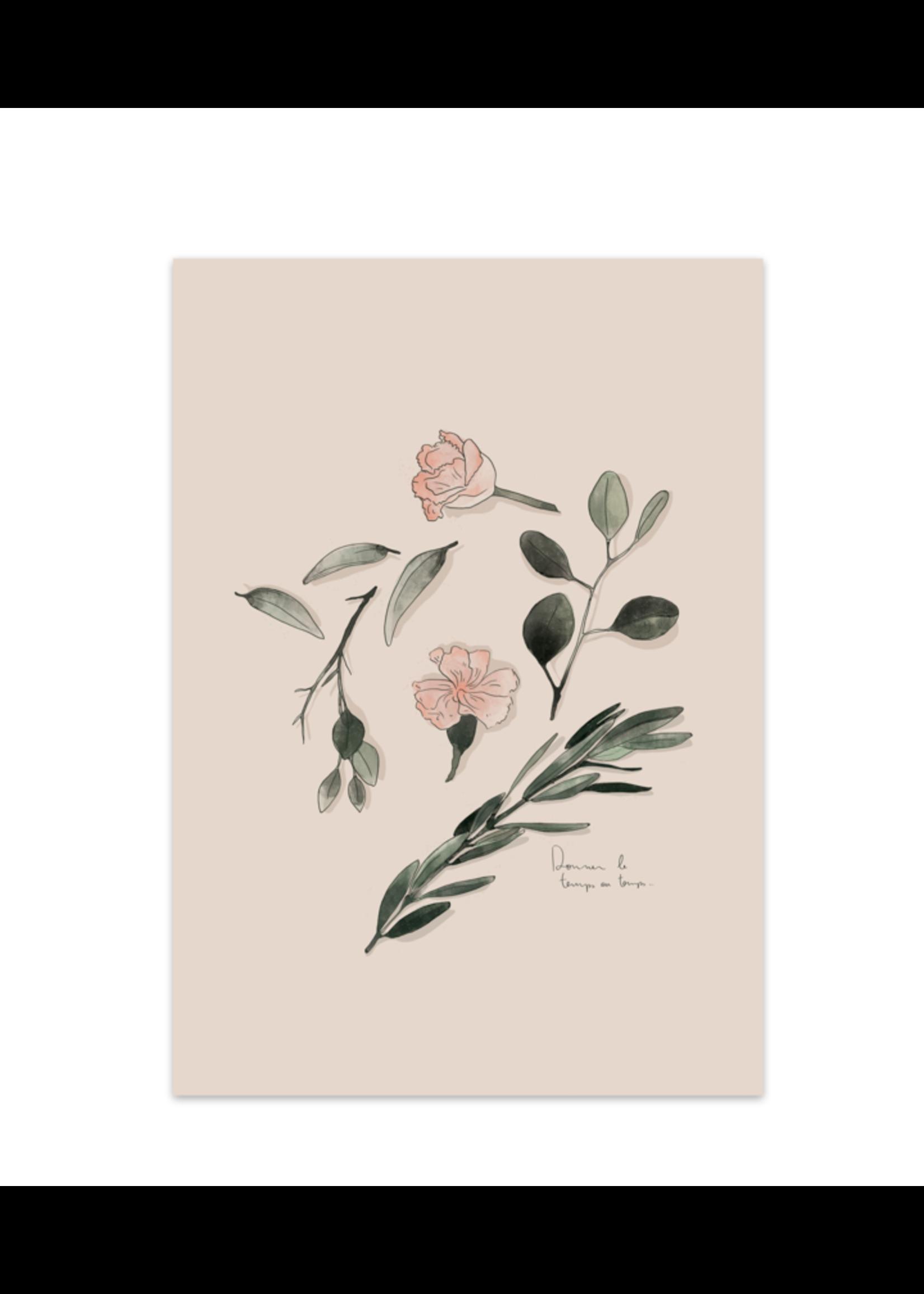 Vegetal composition (Le temps) Art Print