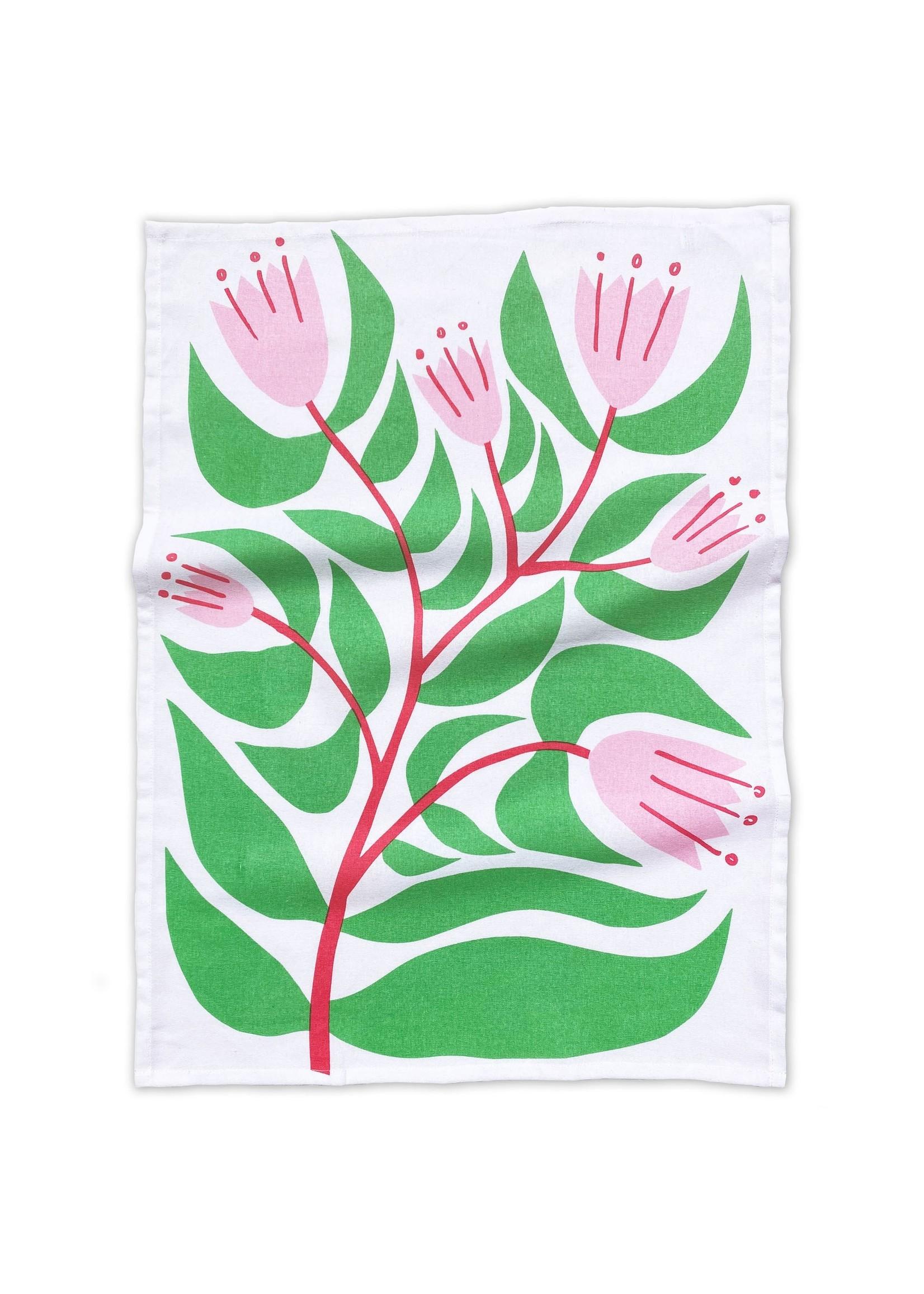 Flowering Plants Tea Towel