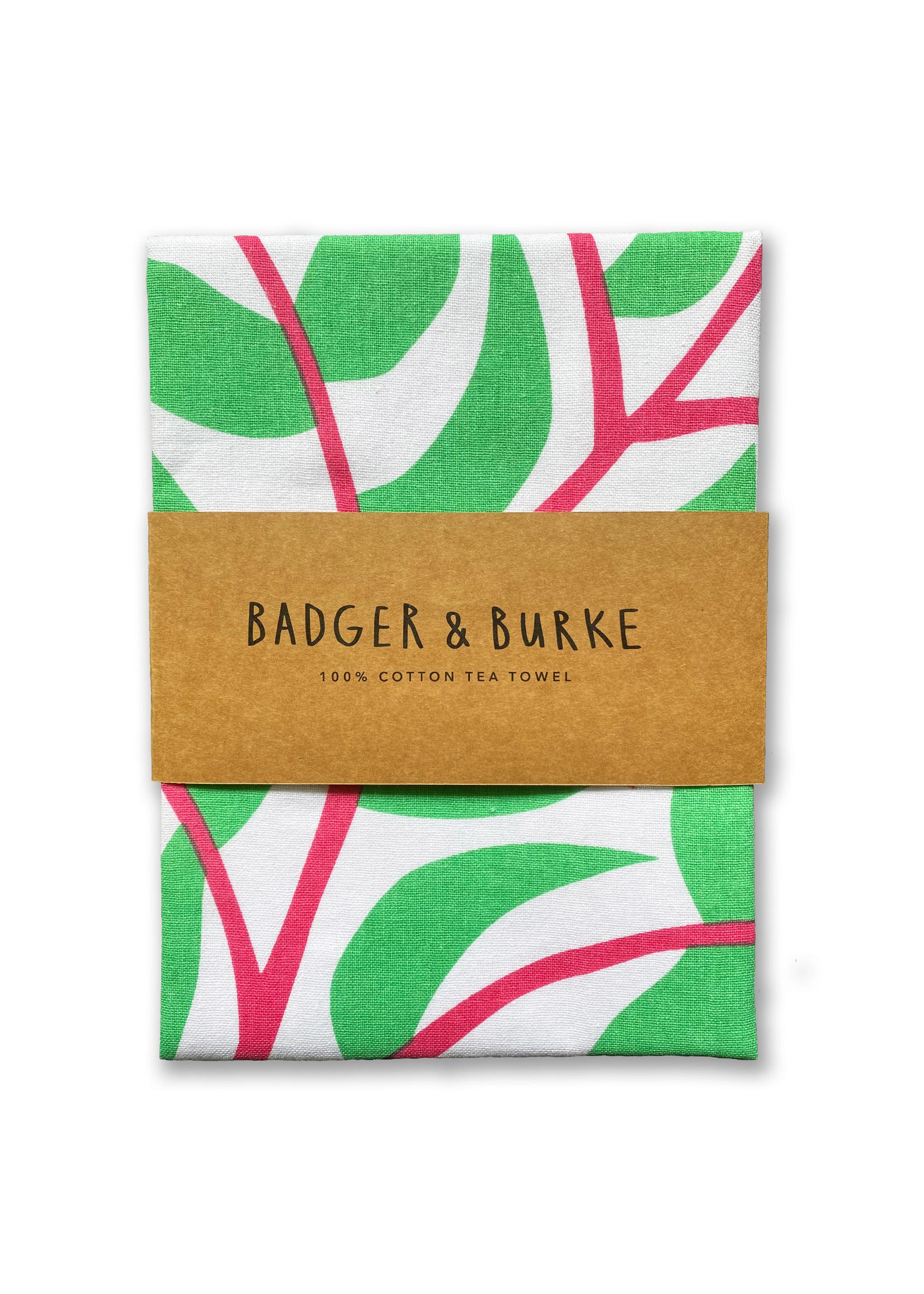 Badger & Burke Flowering Plants Tea Towel