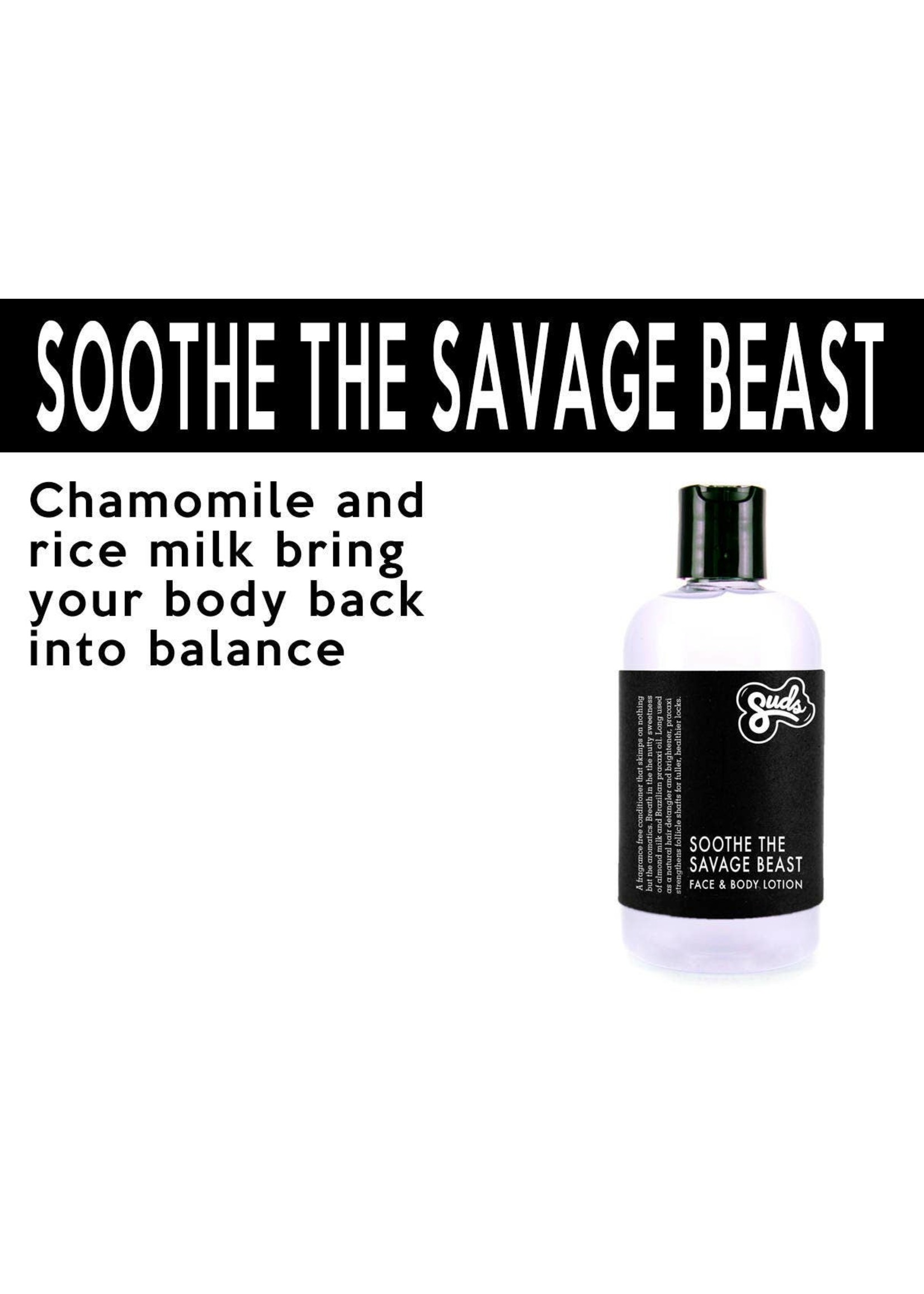 Sudsatorium Soothe the Savage Beast Face and Body Lotion - 250ml