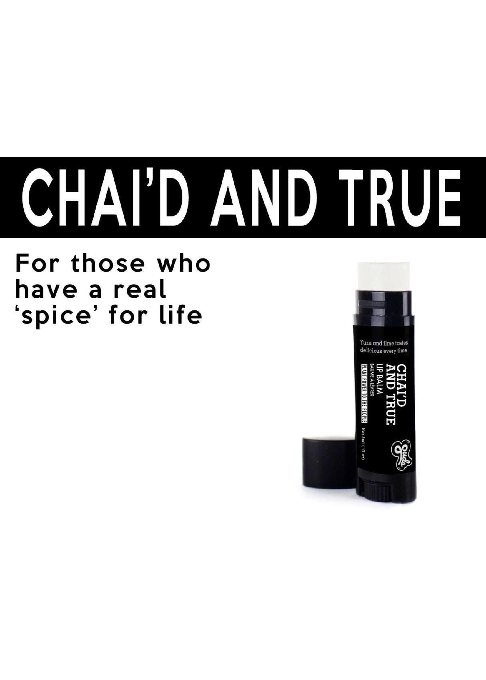 Sudsatorium Chai'd and True Lip Balm