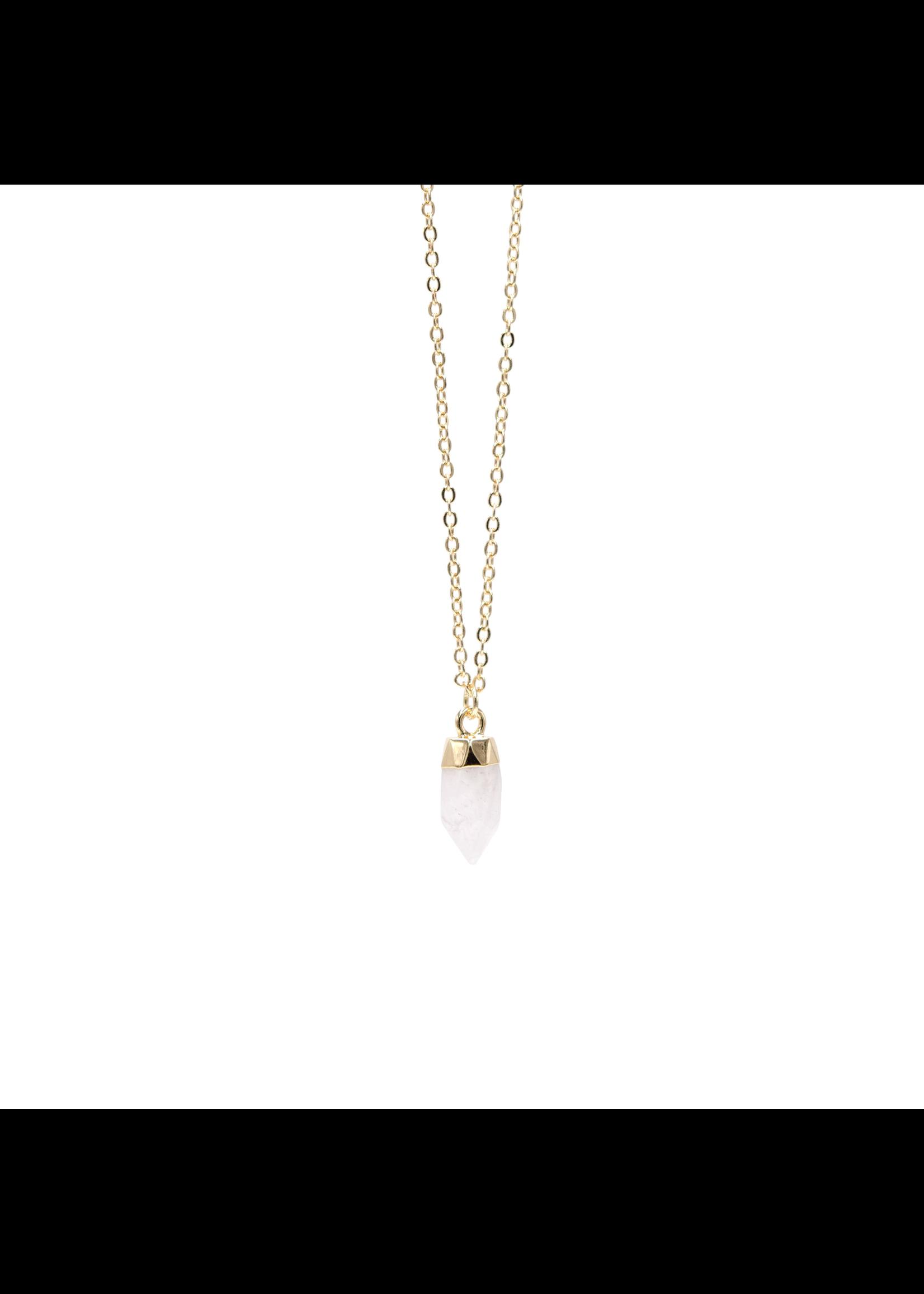 Eliasz and Ella Sweet Drop Necklace - Crystal Quartz