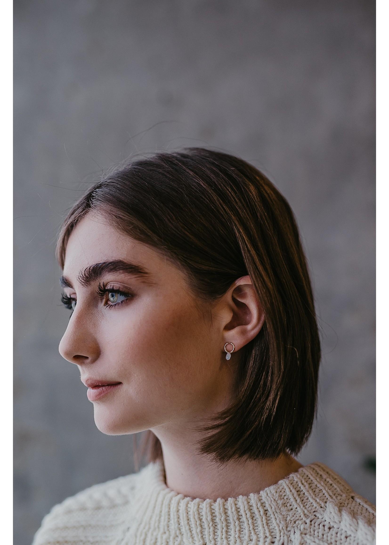 Dew Drop Earrings - Auquamarine