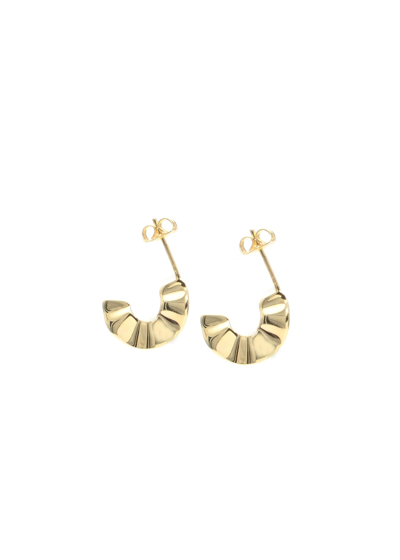 Ruffle Hoop Earrings