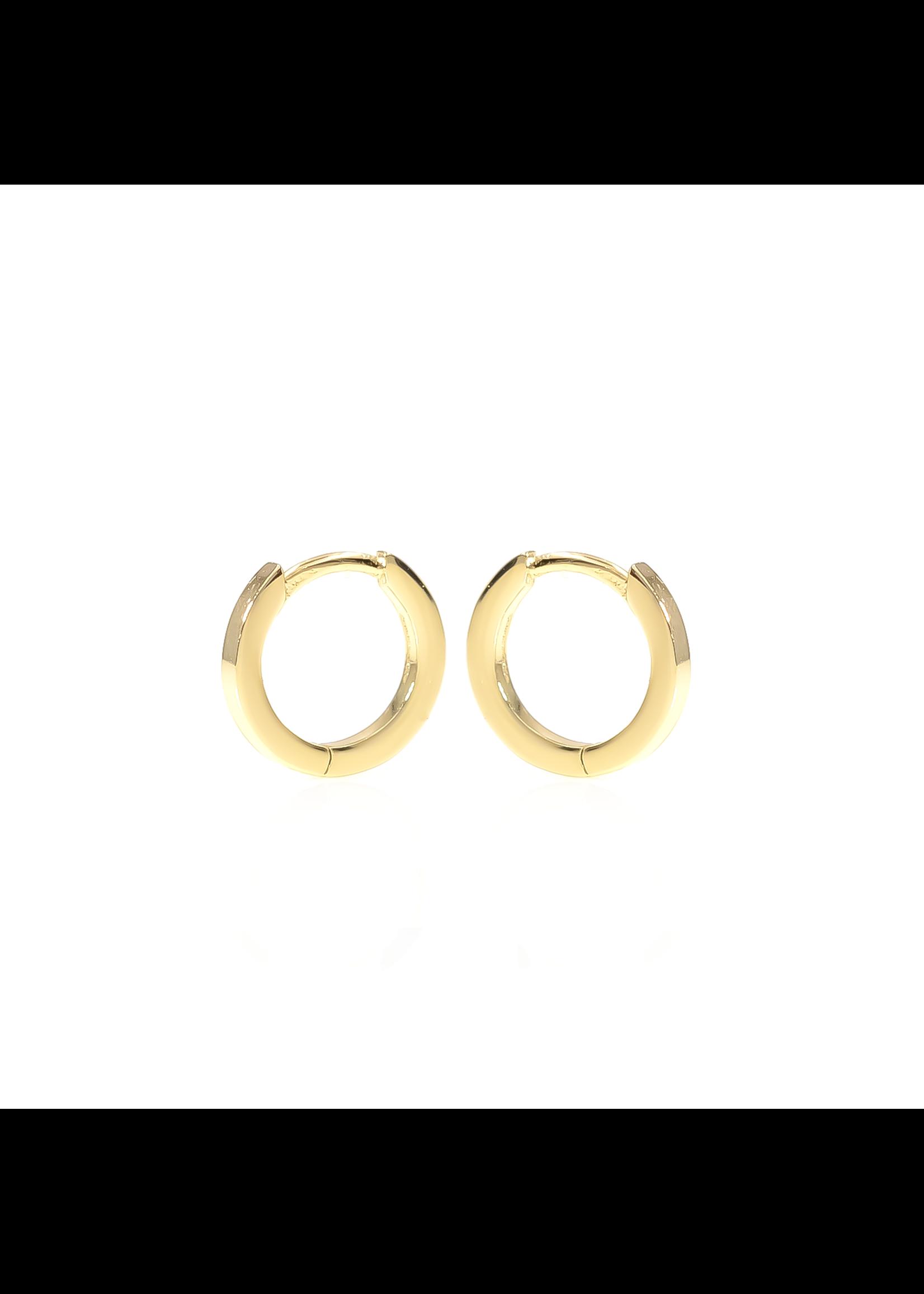 Classic Huggie Hoop Earrings - Gold