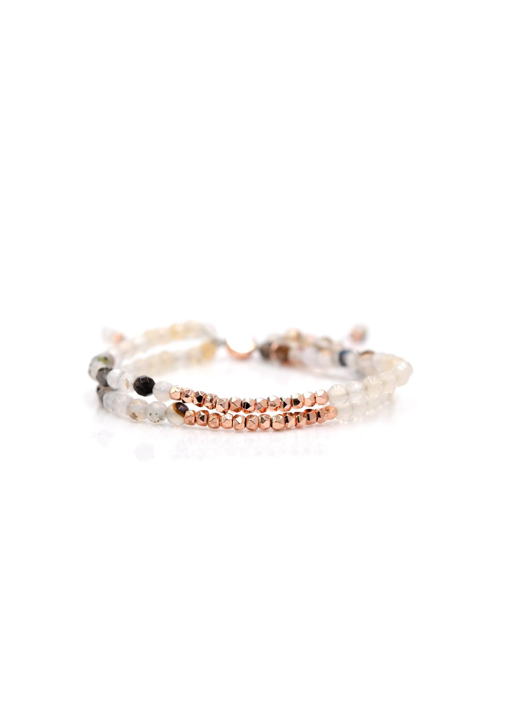 Eliasz and Ella Ocean Eye Doublestrand Bangin Bracelet