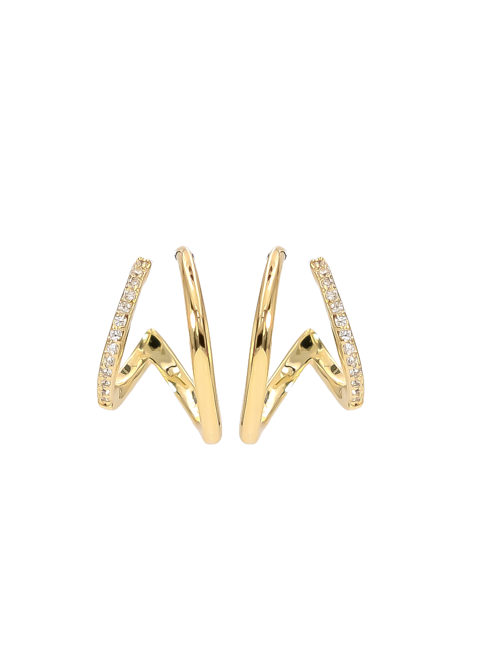 Eliasz and Ella Perspective Double Wrap Earrings - Gold