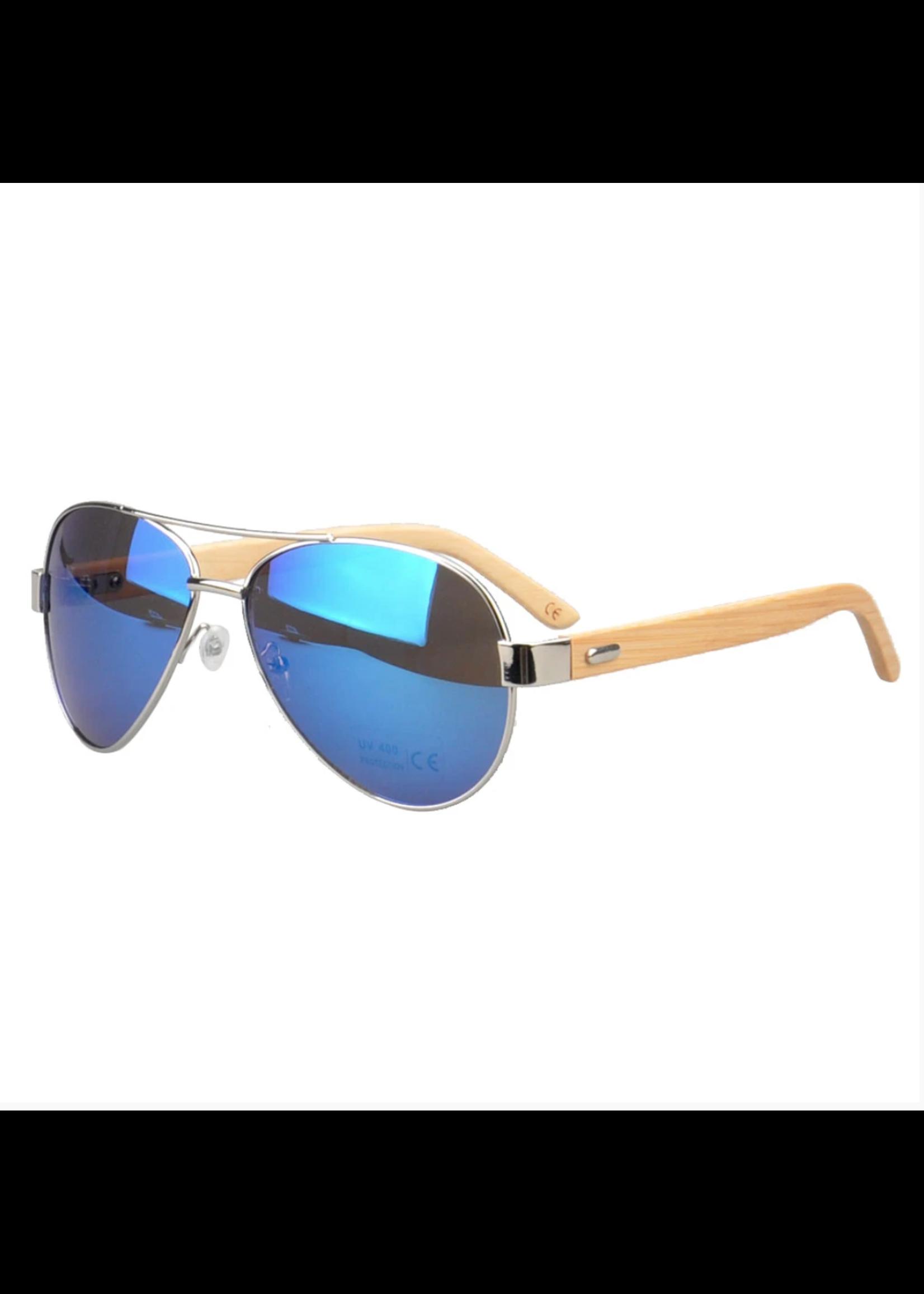 Kuma Sunglasses Jacaranda - Mirrored Blue