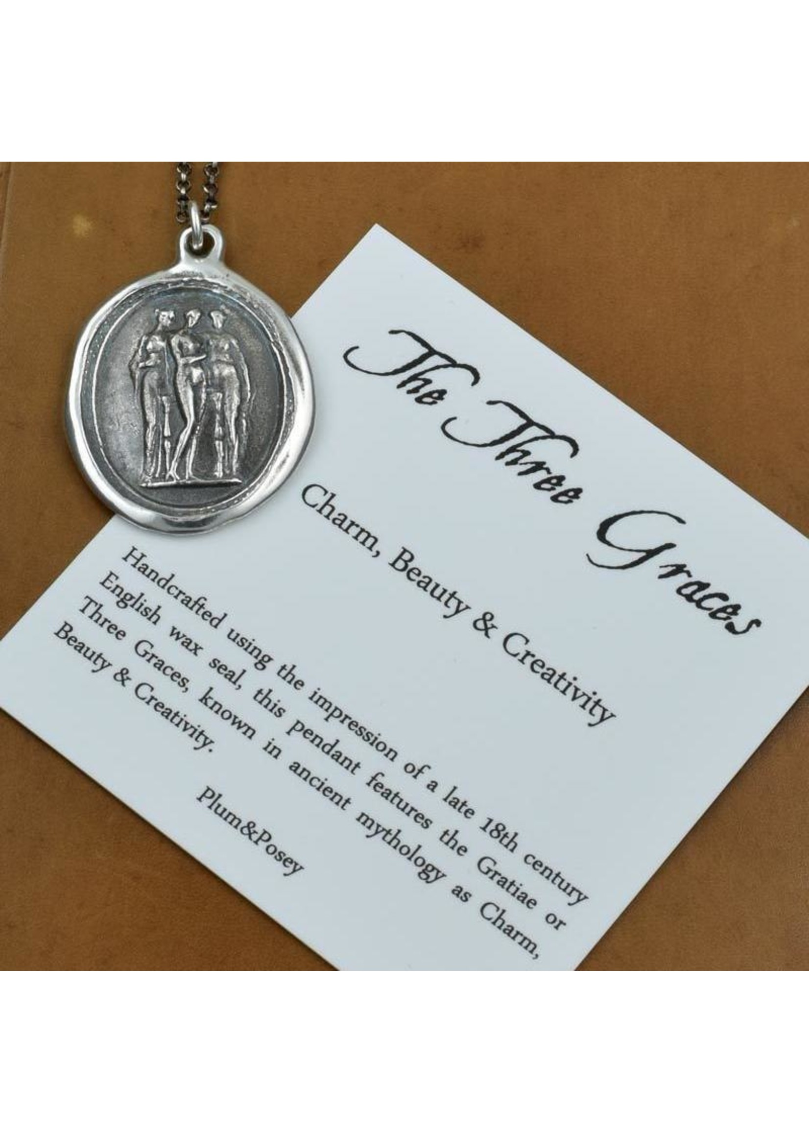 The 3 Graces Wax Seal Necklace