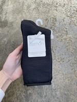 Lemon Loungewear Recycled Crew Sock Black