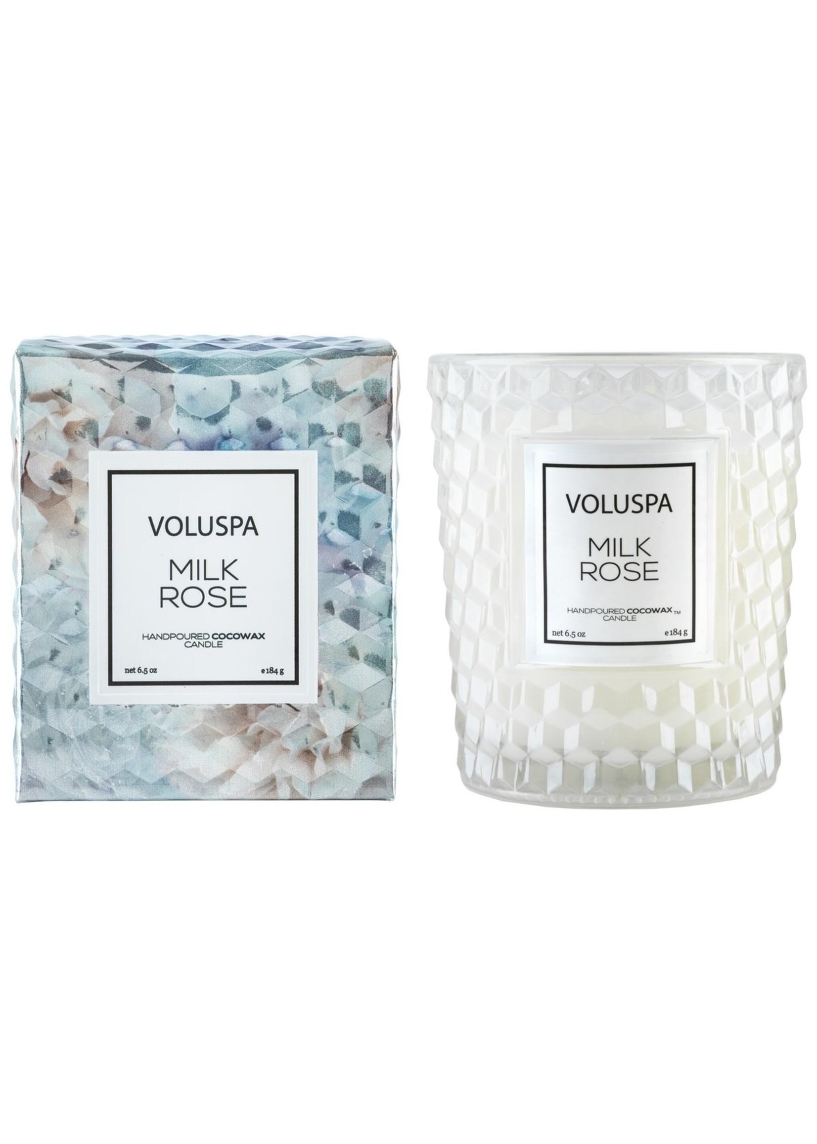 Voluspa Milk Rose Classic Candle