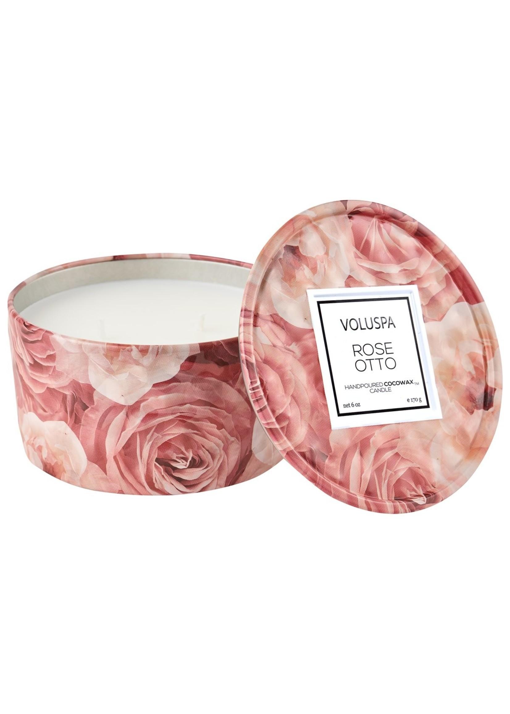 Voluspa Rose Otto 2 Wick Tin Candle