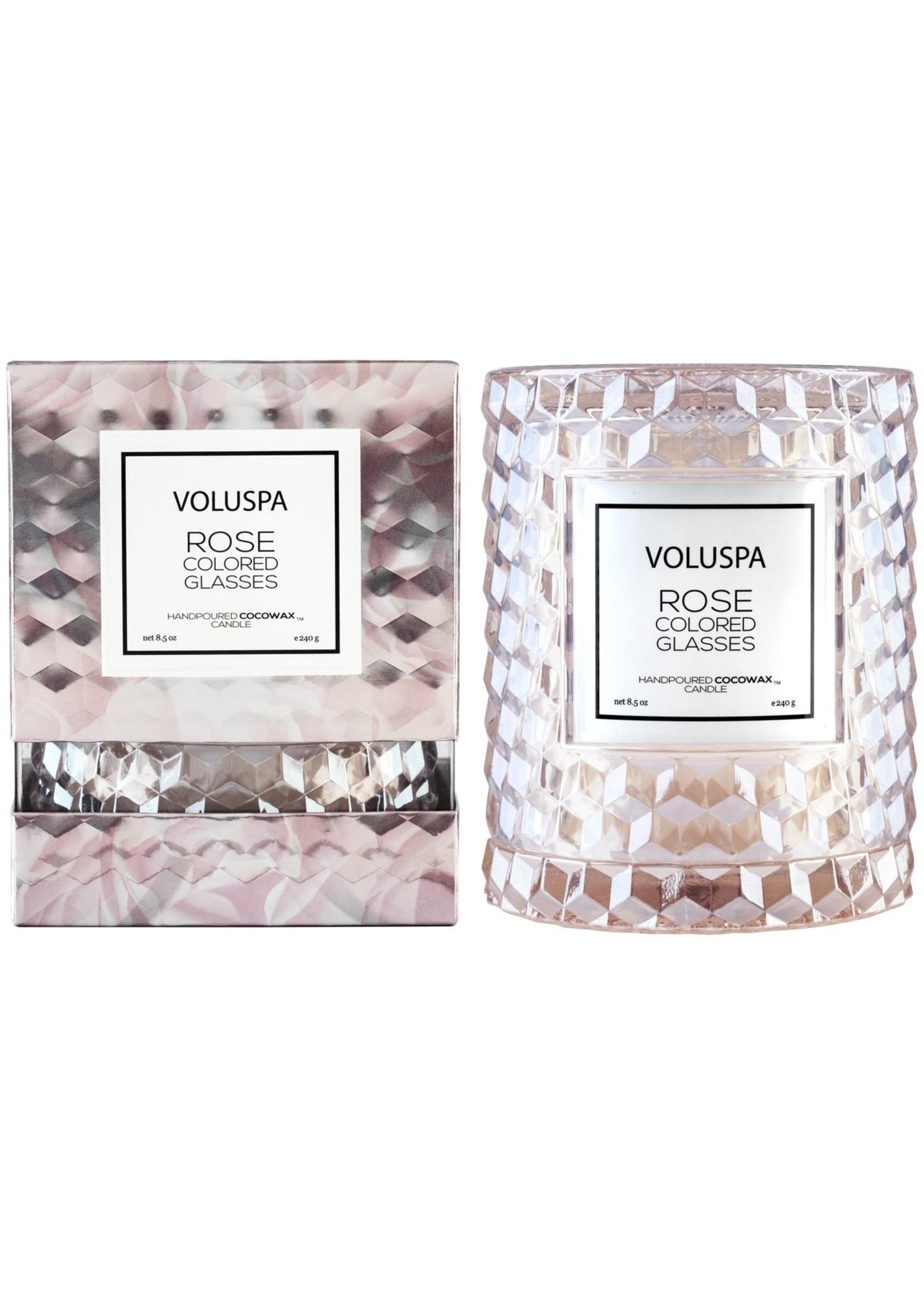 Voluspa Rose Colored Glasses Cloche Candle