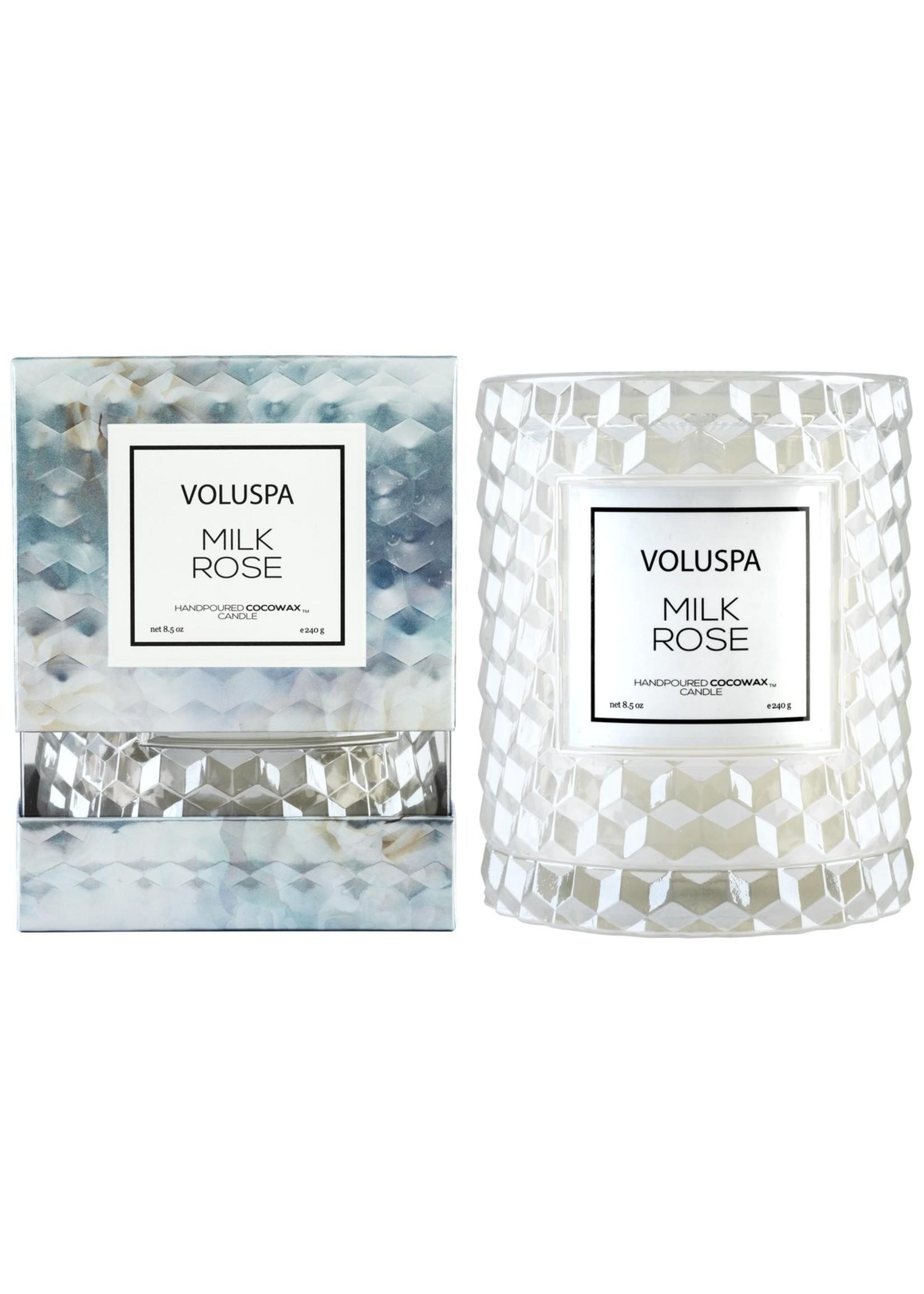 Voluspa Milk Rose Cloche Candle