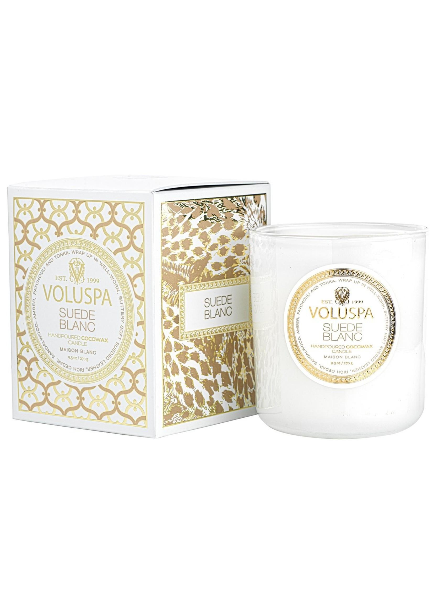 Voluspa Suede Blanc Classic Candle