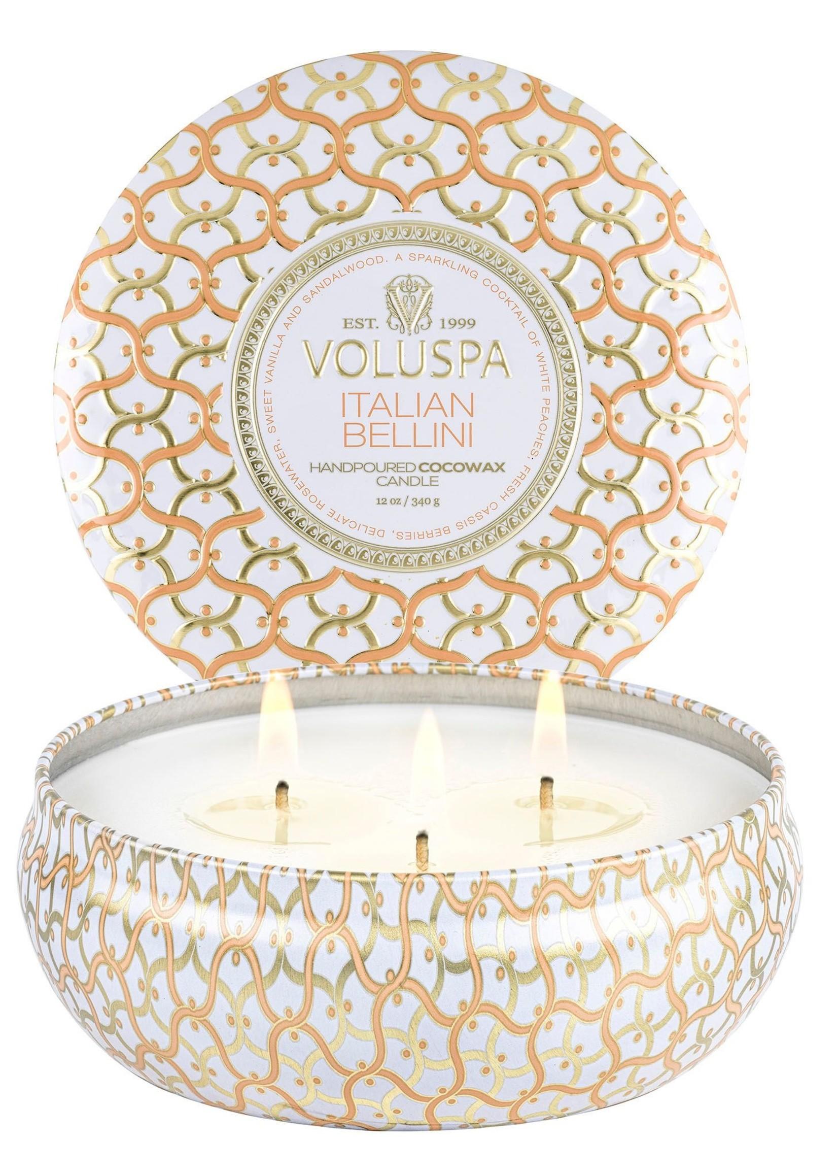 Voluspa Italian Bellini 3 Wick Tin Candle