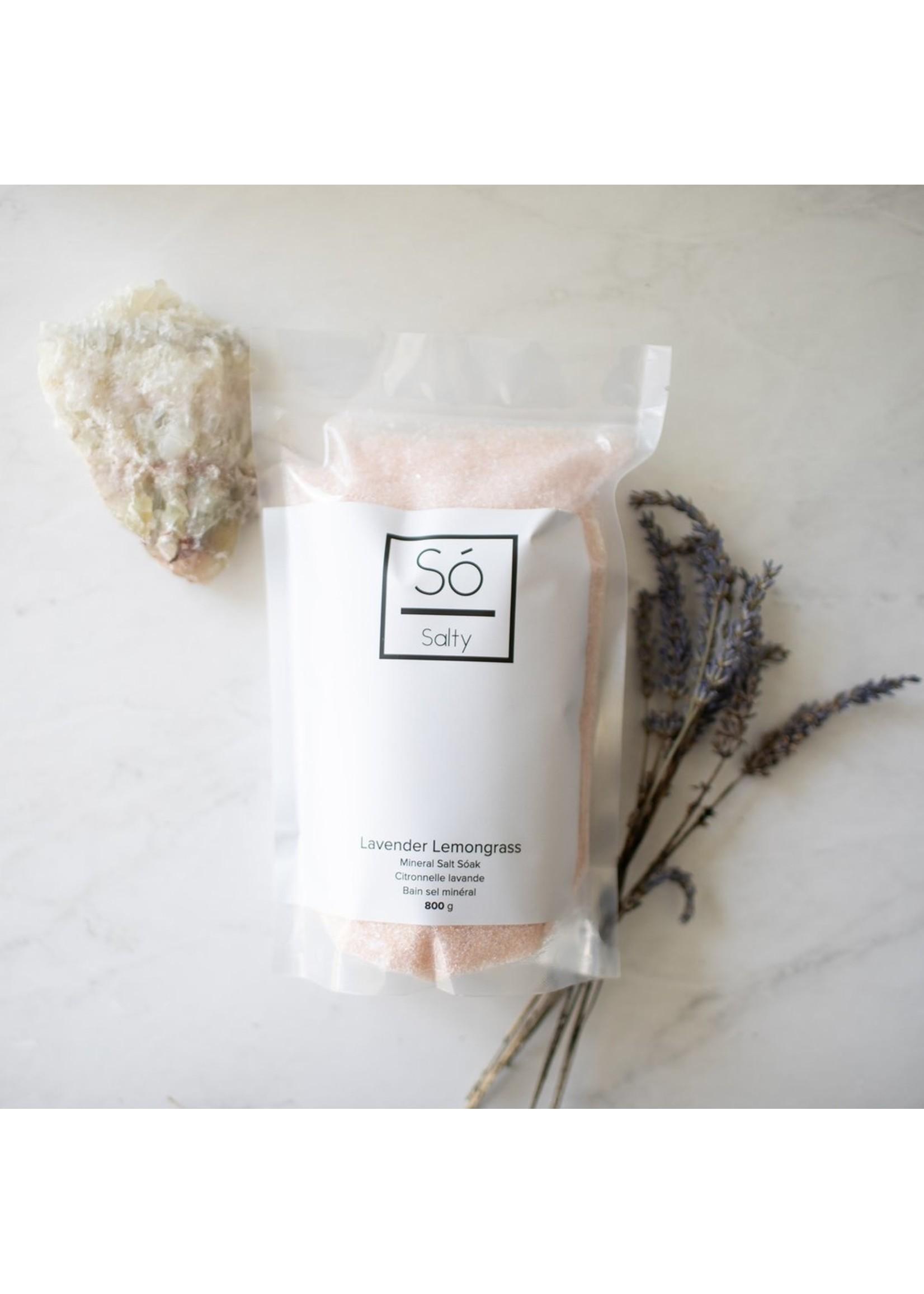 So Luxury Salty Mineral Salt Soak - Lavender Lemongrass