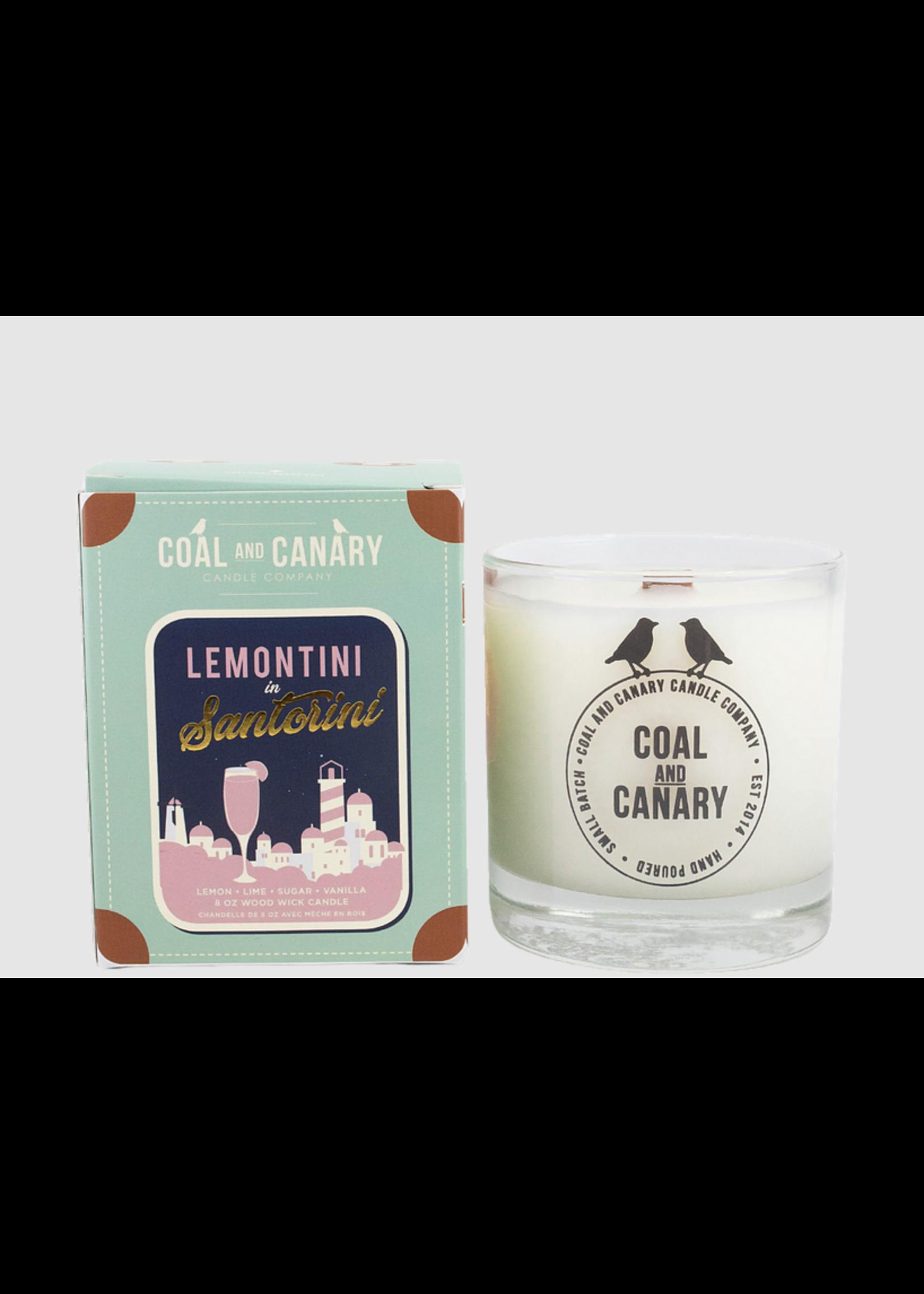 Coal and Canary Lemontini in Santtorini
