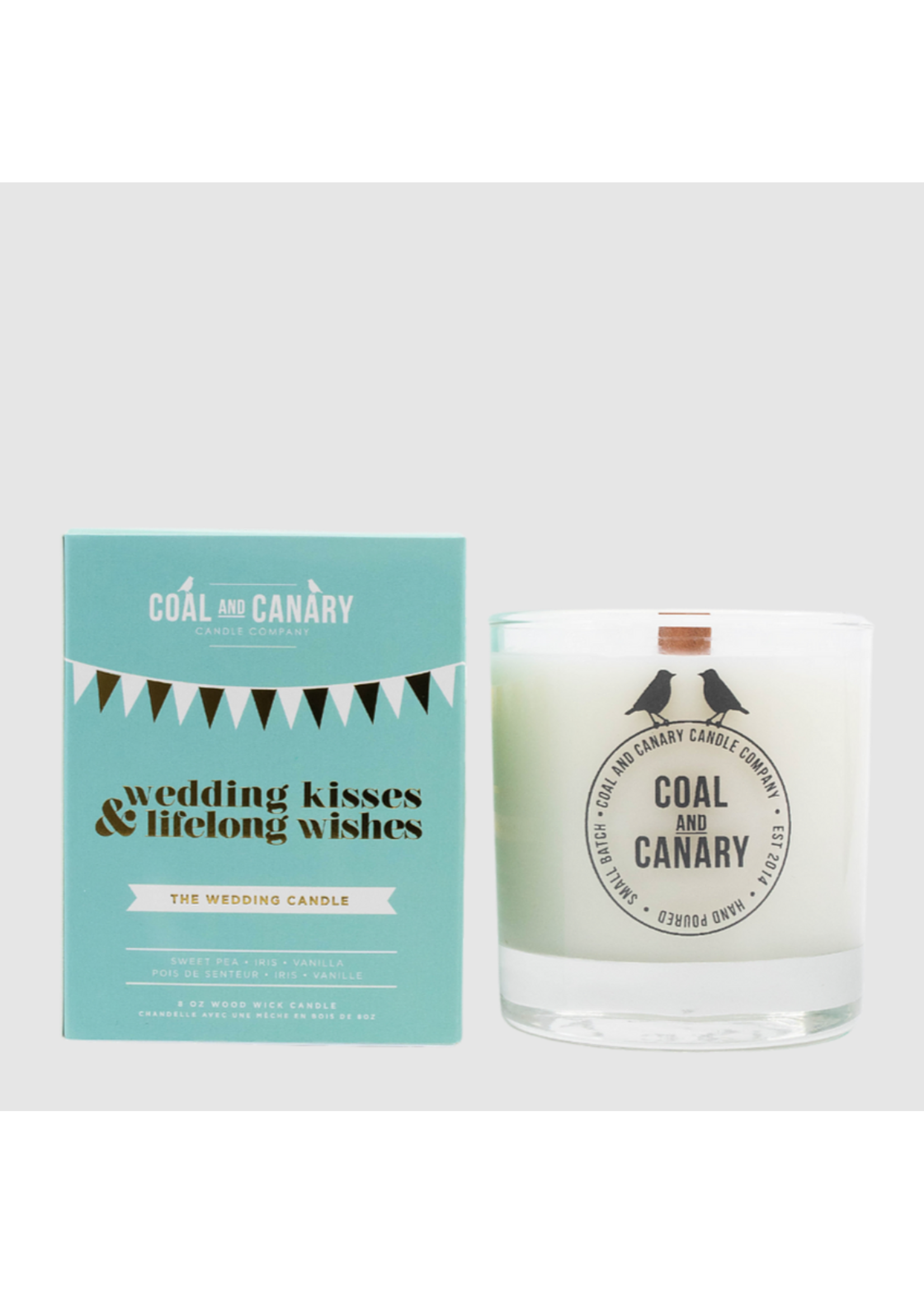 Coal and Canary Wedding Kisses & Lifelong Wishes