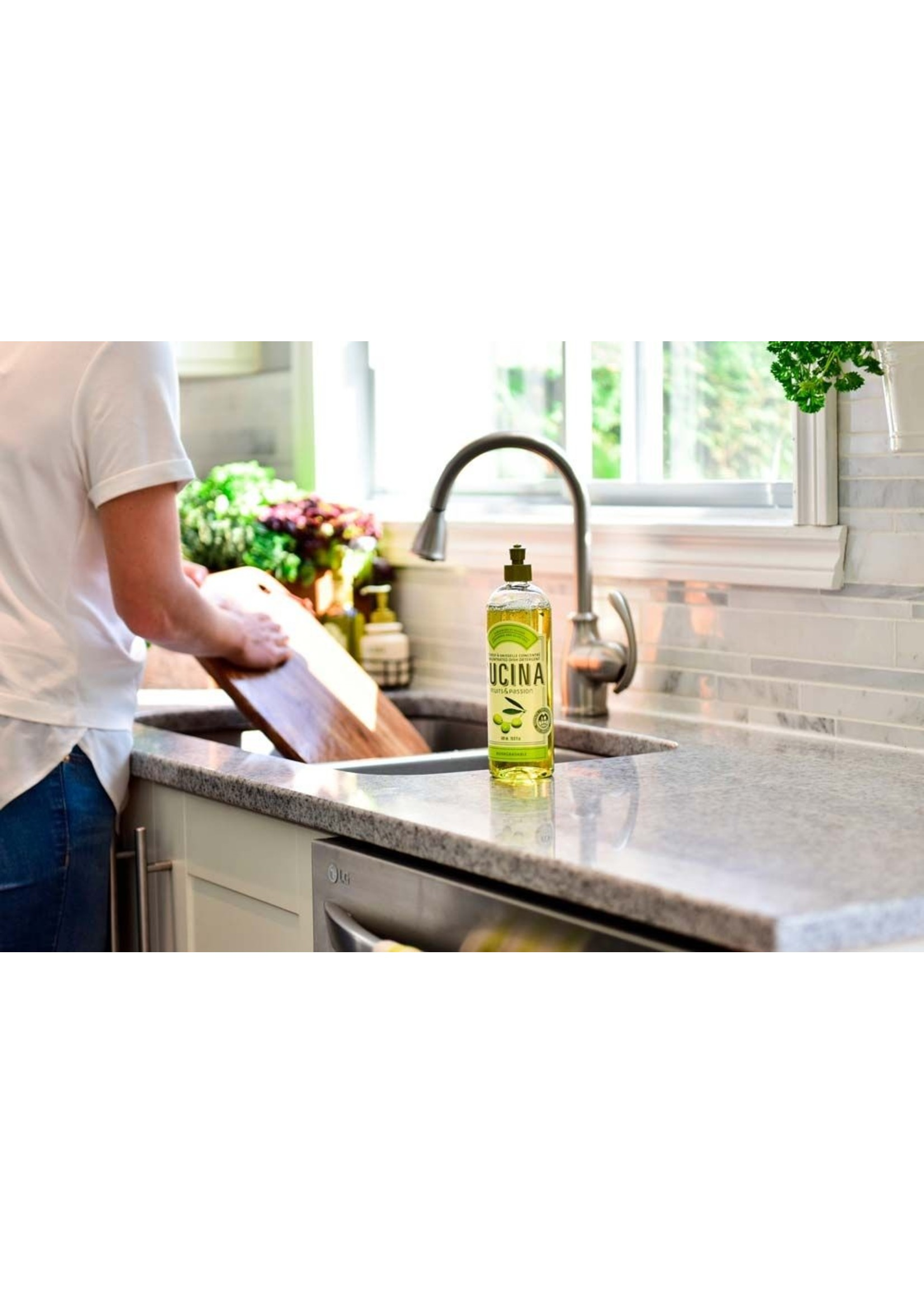 Cucina Concentrated Dish Detergent - Lime Zest and Cypress