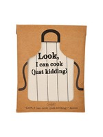 Mud Pie Just Kidding Packaged Apron