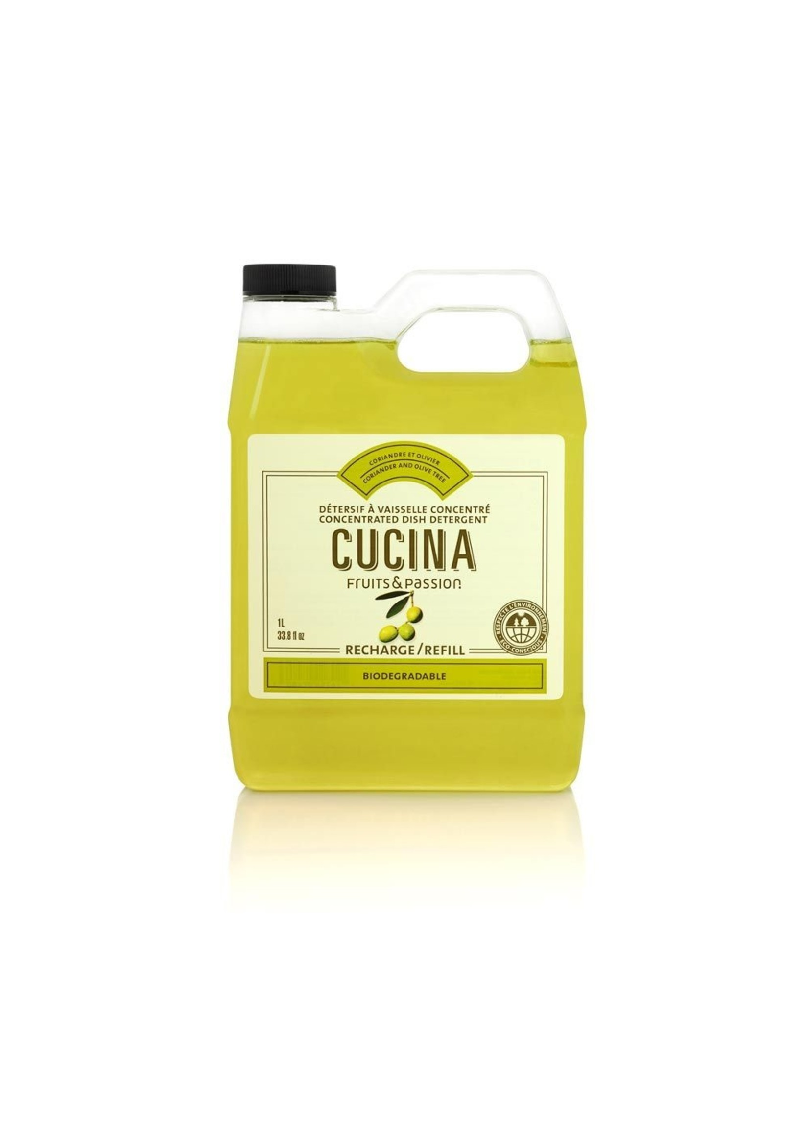Cucina Concentrated Dish Detergent Refill - Coriander and Olive Tree