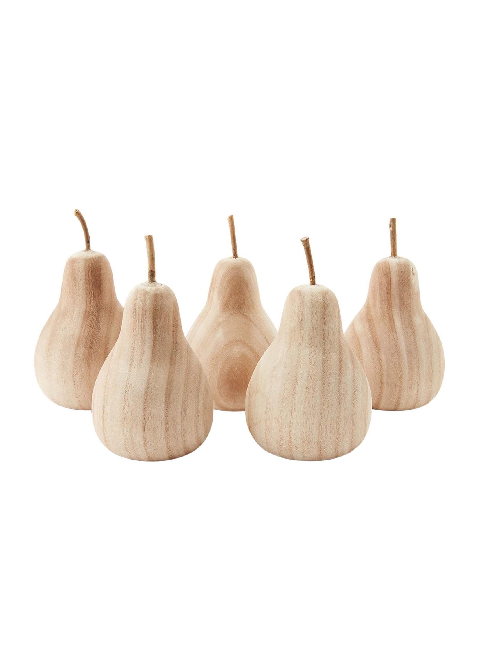 Mud Pie Paulowina Wood Pear - Small