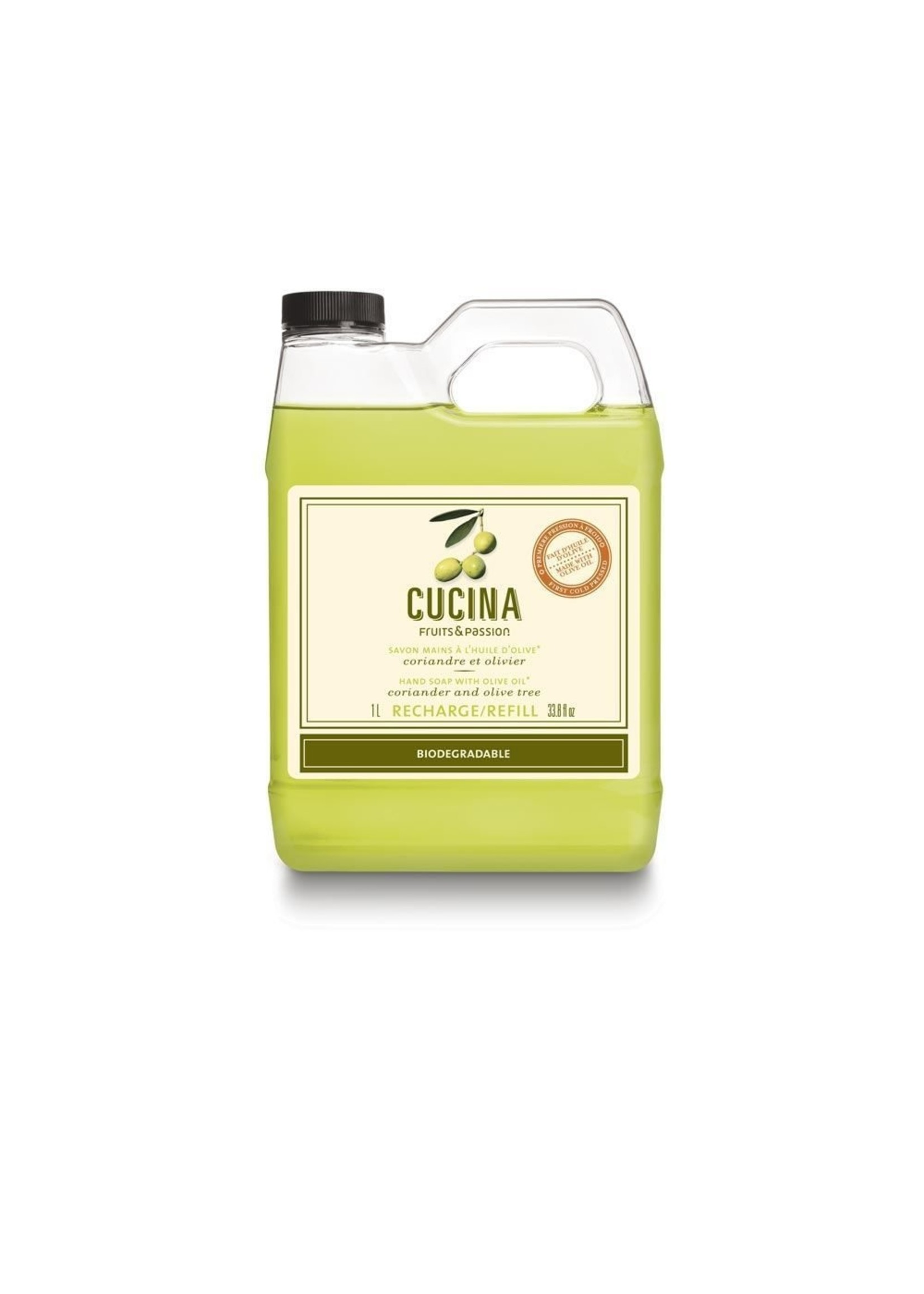 Cucina Hand Soap with Olive Oil Refill - Coriander and Olive Tree