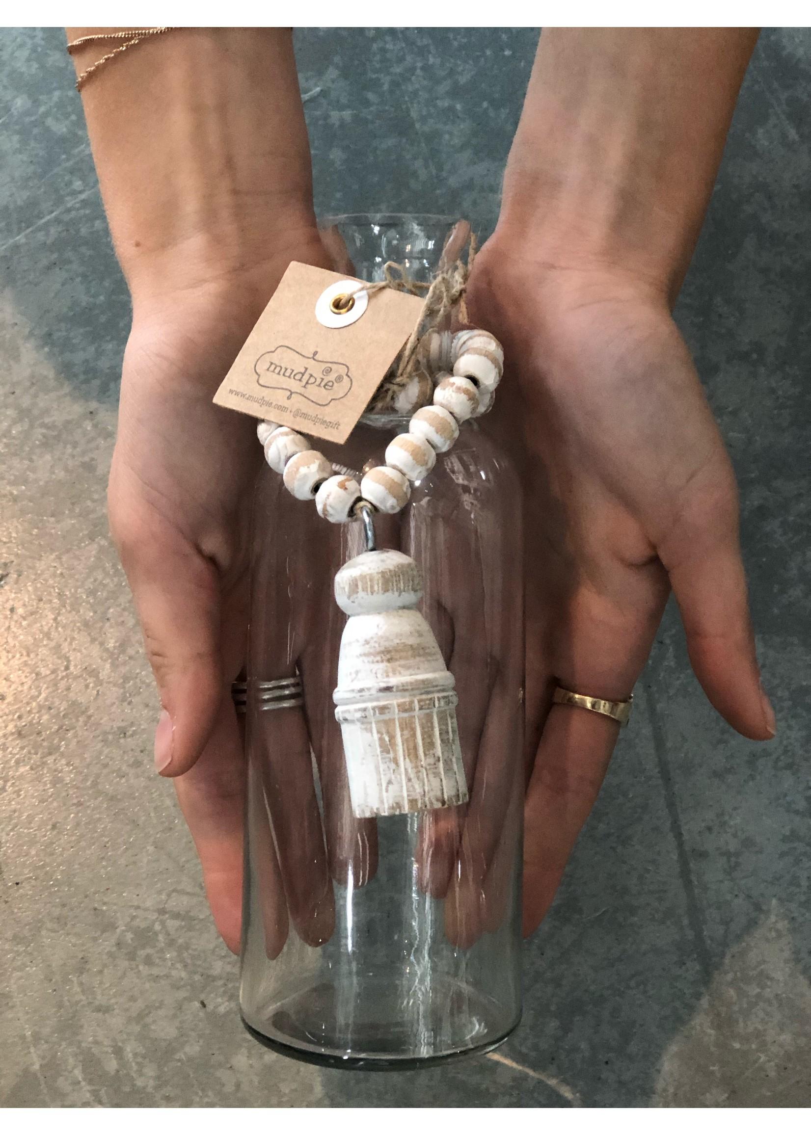 Mud Pie Tassle Bud Vase with Beads