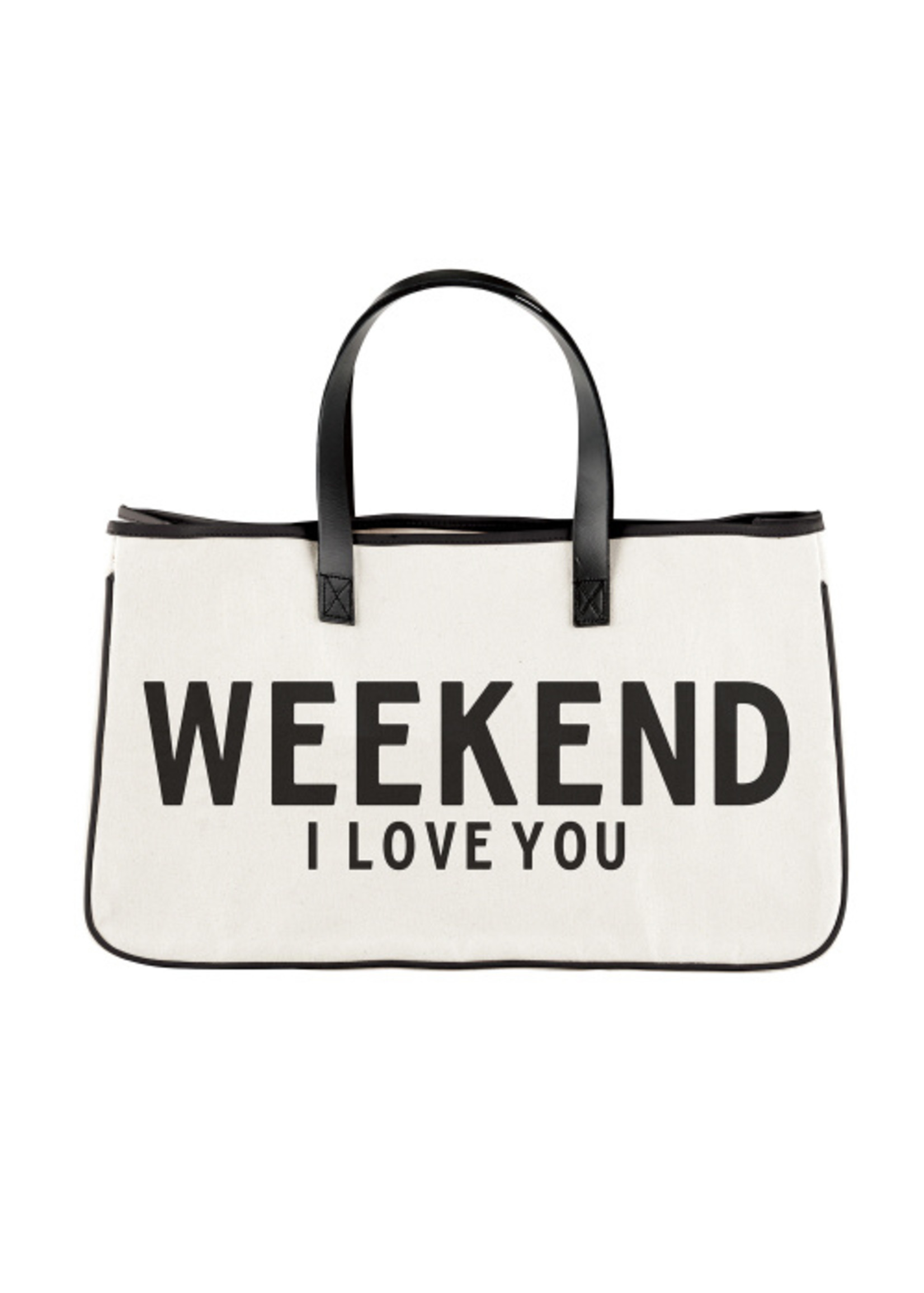 Canvas Tote - Weekend I Love You