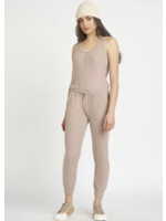 Dex Snap Front Ribbed Jumpsuit