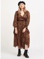 Dex Long Sleeve Paisley Maxi Dress