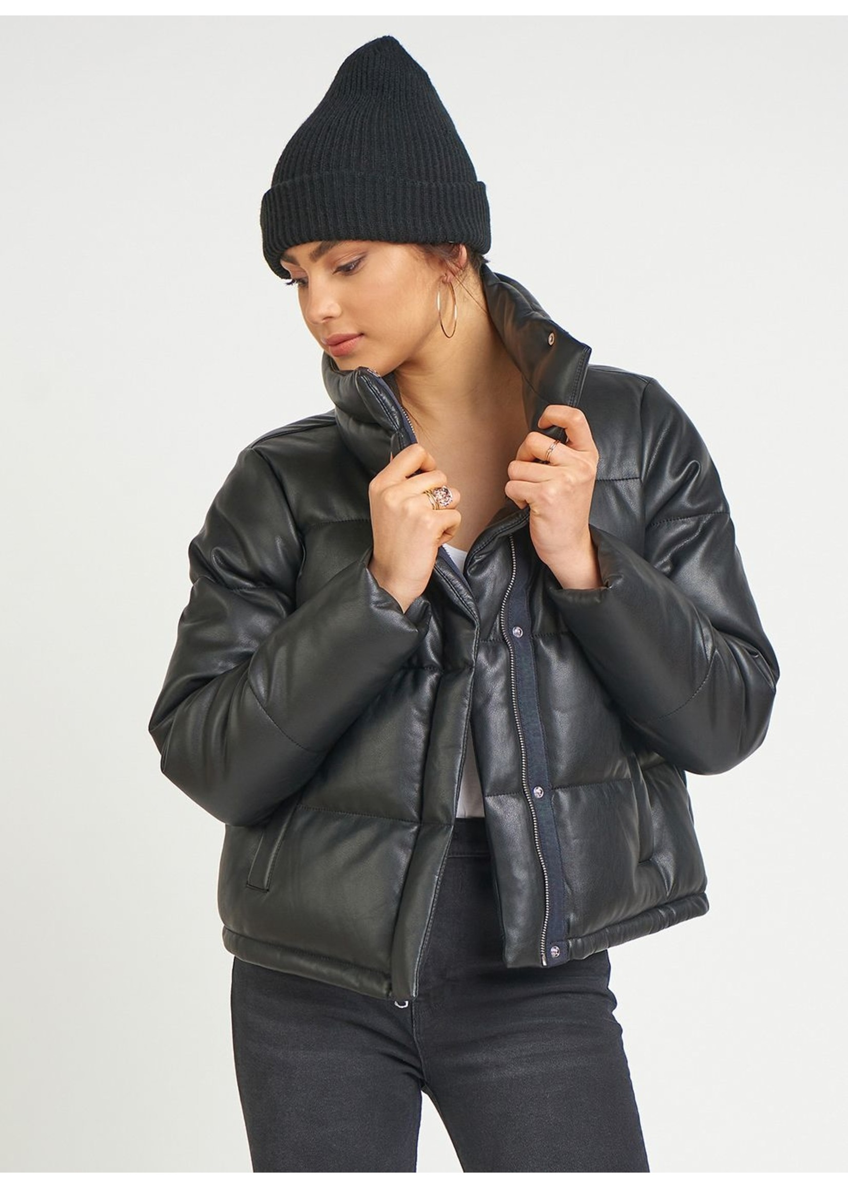 Dex Faux Leather Puffer