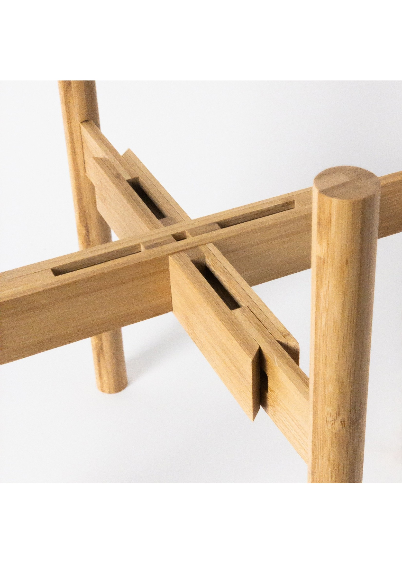 "Kanso Designs Natural Bamboo Planter Stand - 8-12"""