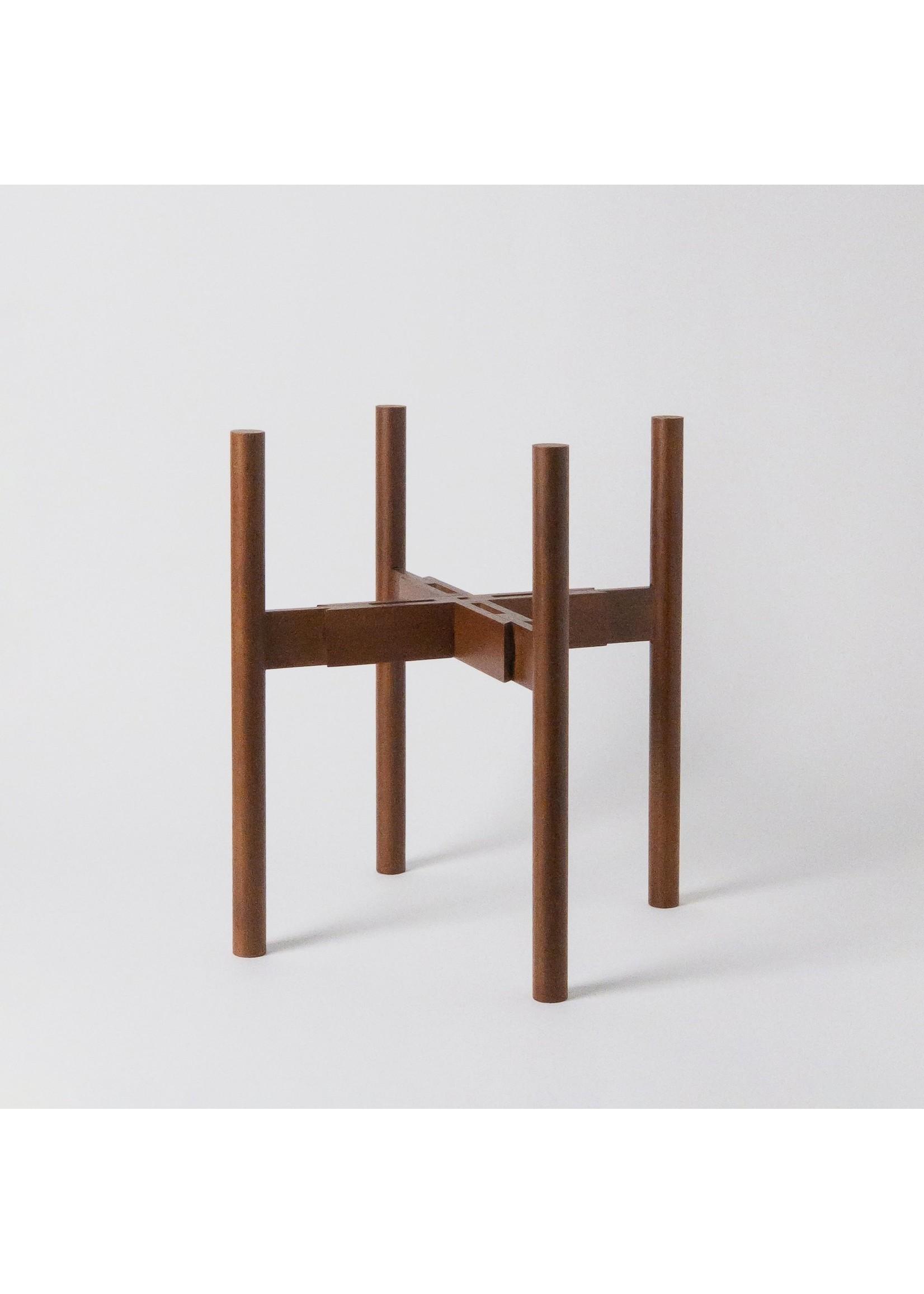 """Kanso Designs Dark Brown Plant Stand - 8-12"""""""