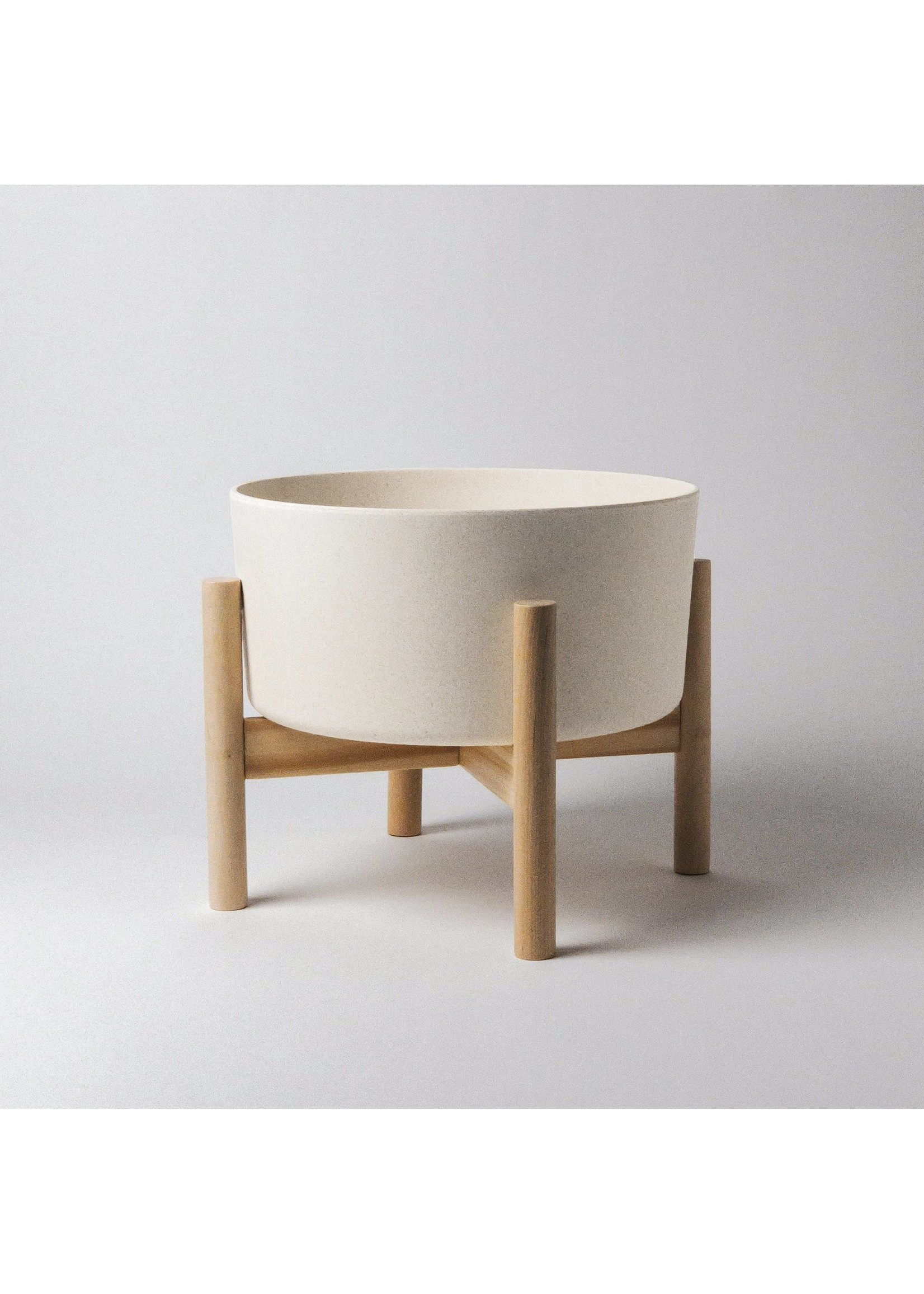 """Kanso Designs Bamboo Fibre Planter and Stand - 9"""""""