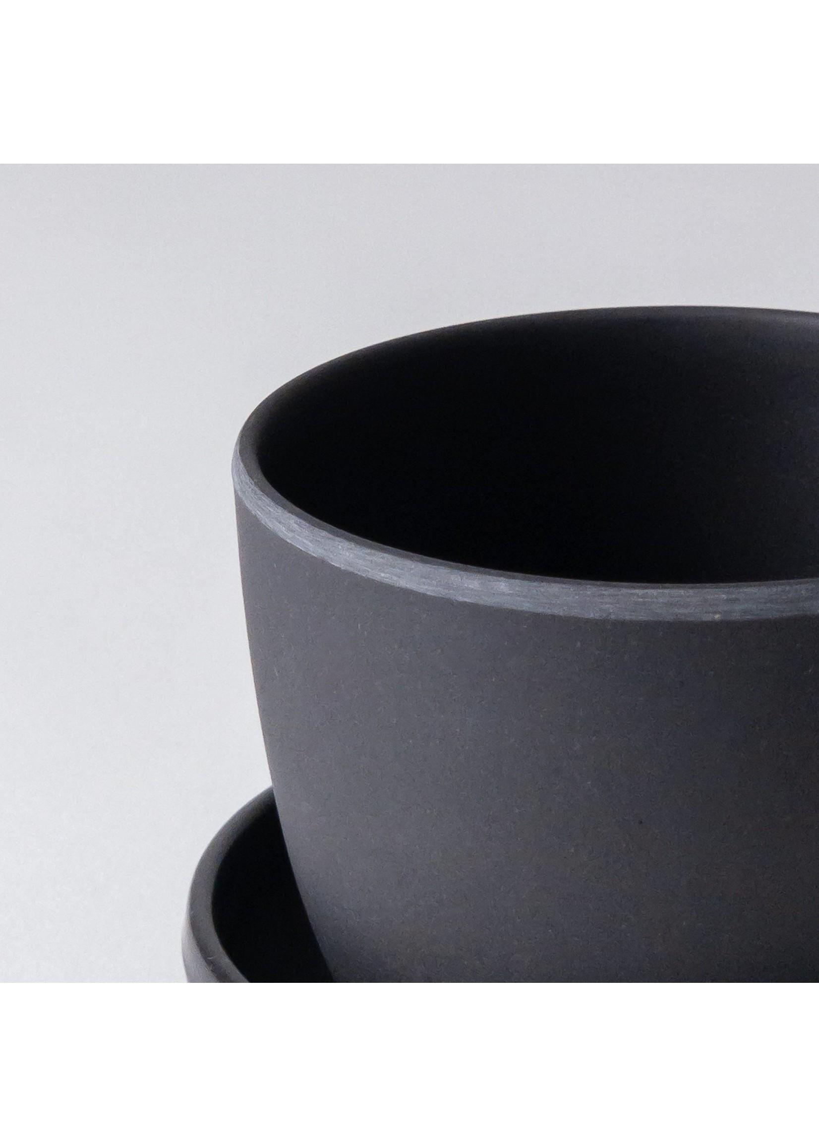 Kanso Designs Bamboo Fibre Mini Planter Black