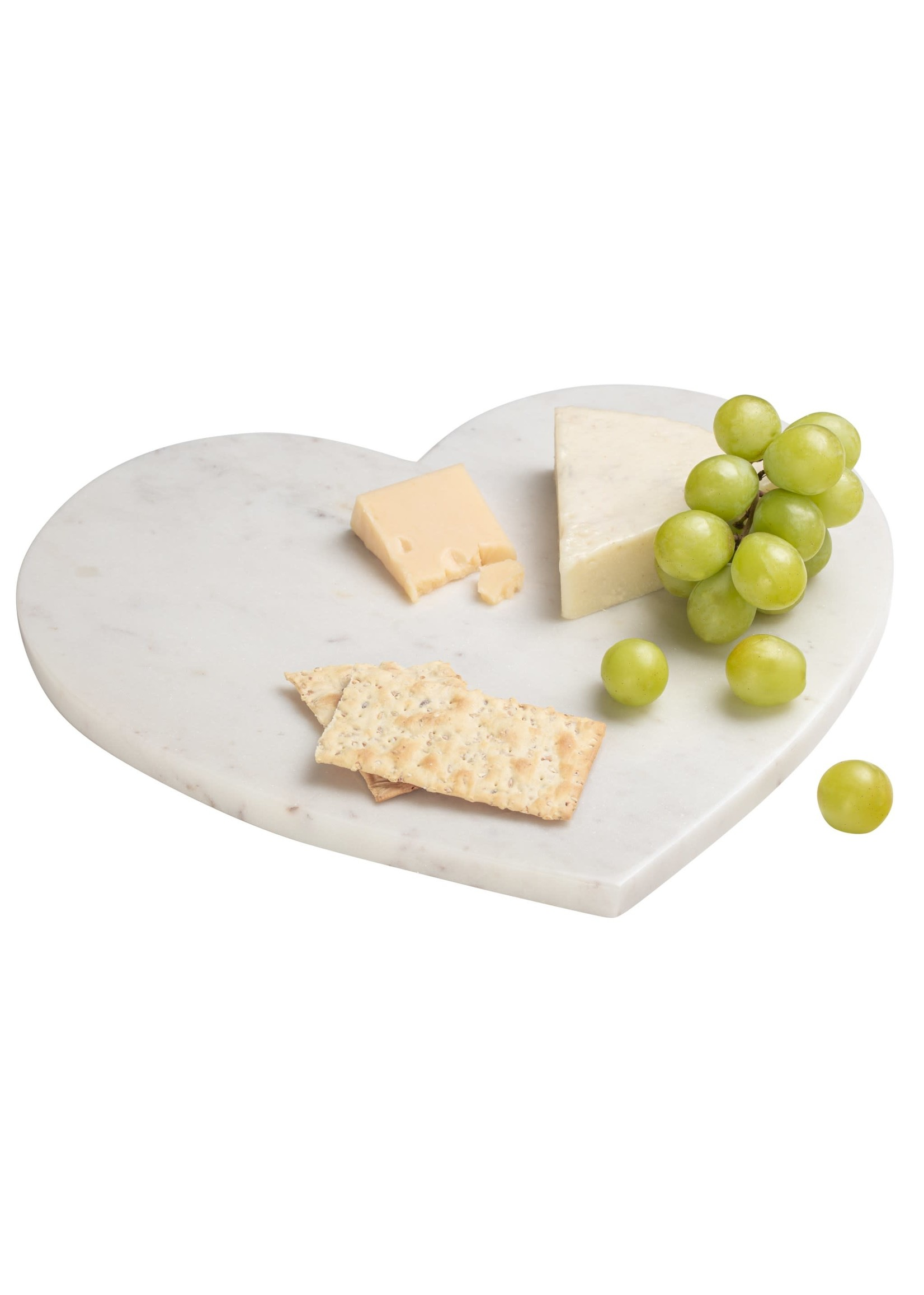 """Torre & Tagus Marble Heart 12"""" Cheese Serving Board"""