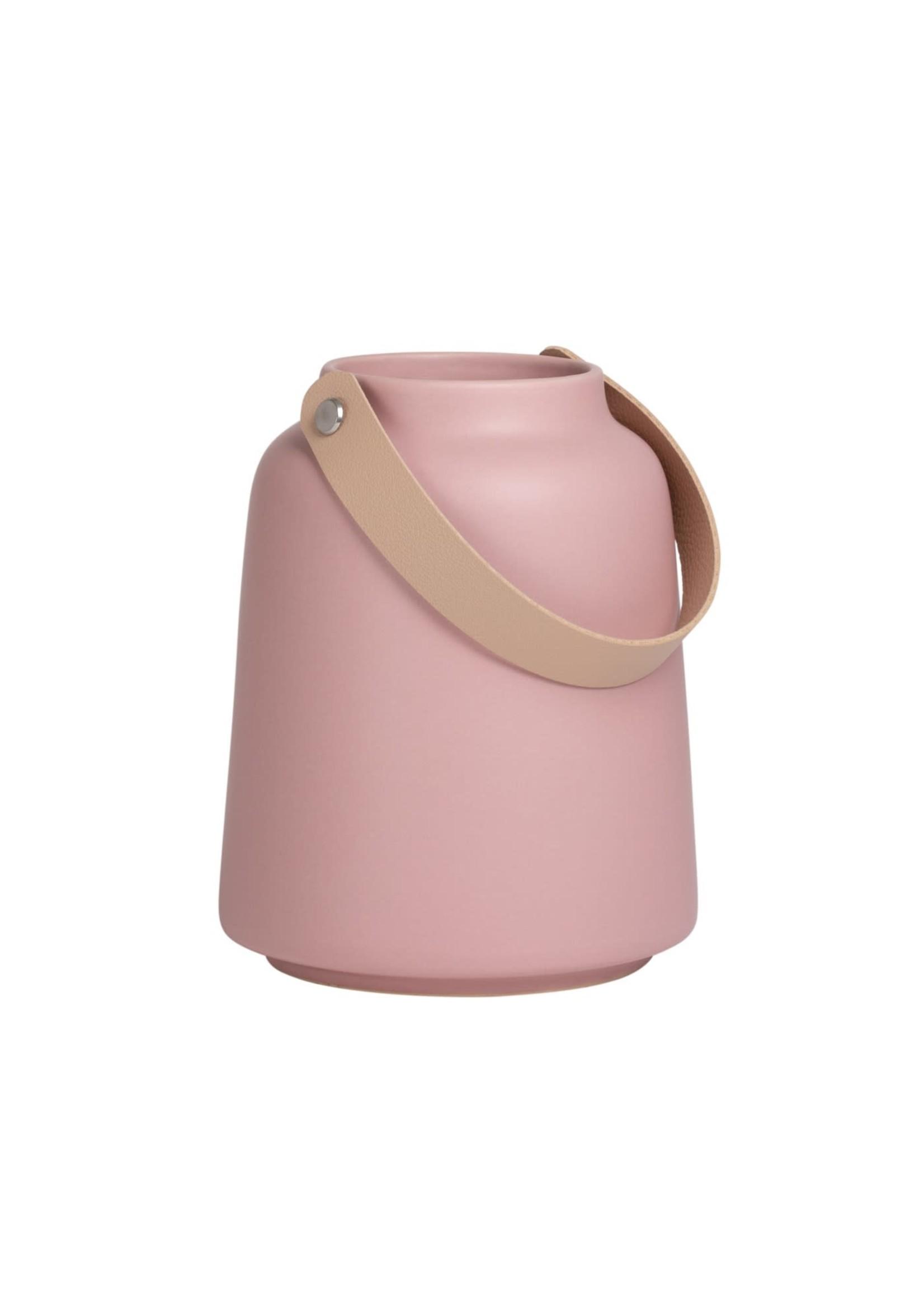 """Torre & Tagus Lido Ceramic Vase - Pink 6"""""""