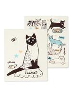 Cat Swedish Dishcloth s/2