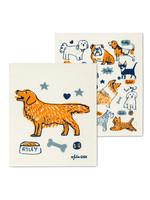 Dog Swedish Dishcloth s/2