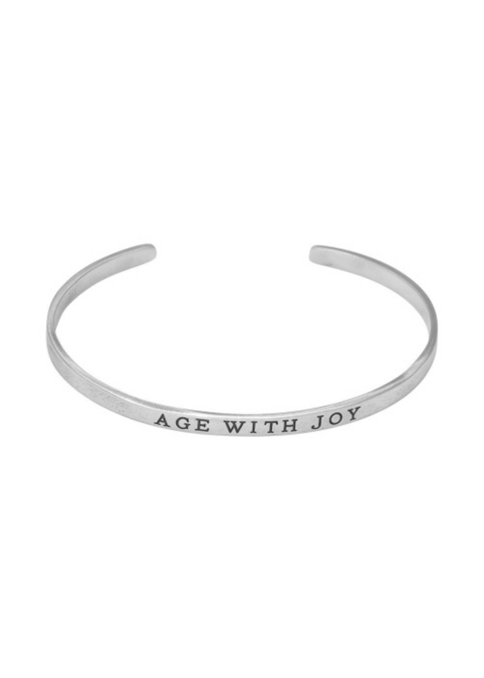 Waxing Poetic Age With Joy Cuff - Sterling Silver