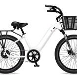 Electric Bike Company Model R White W/Rear Rack SLV Front Basket