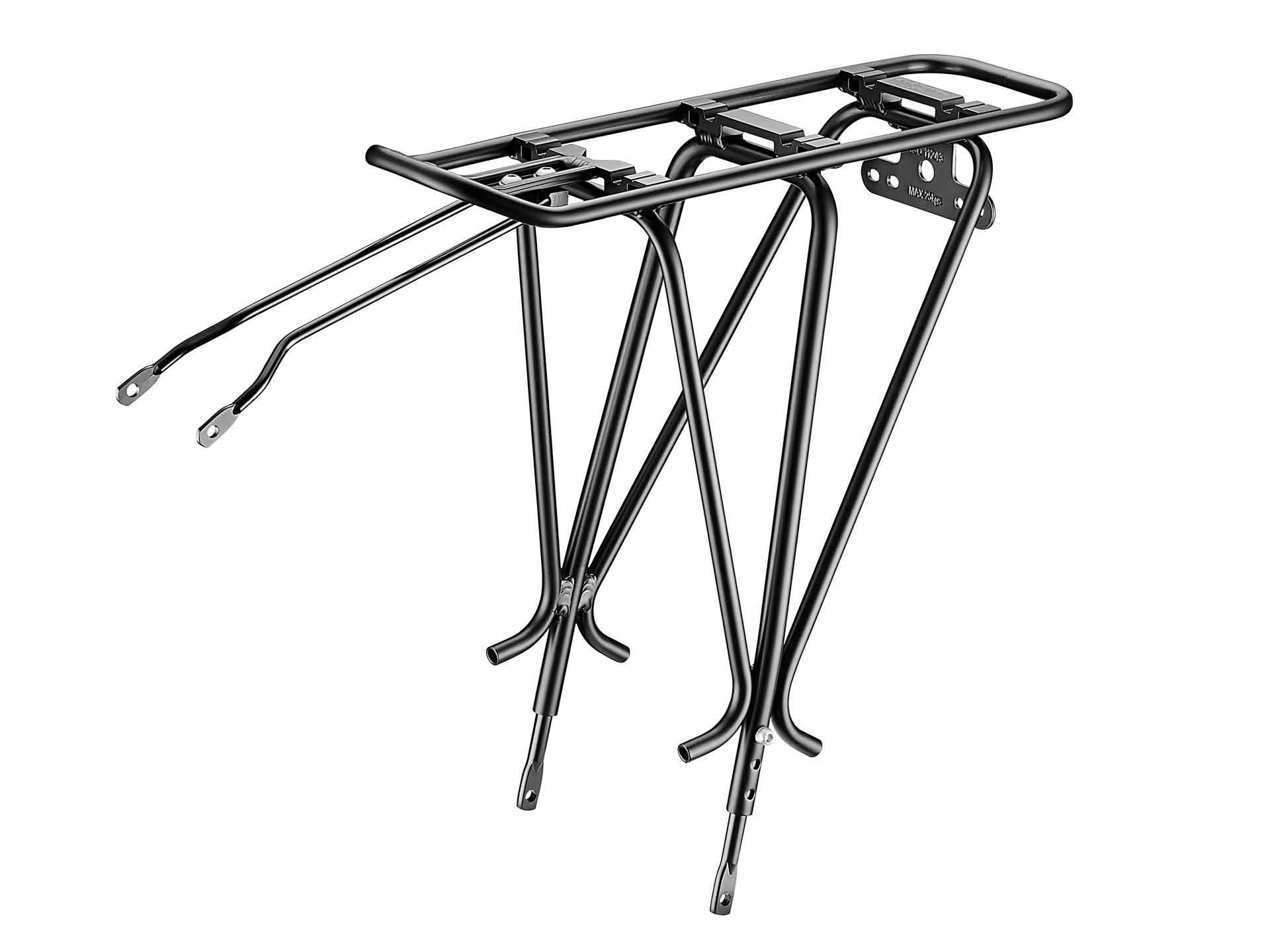 Electric Bike Company Model R Black W/Rear Rack SLV Front Basket