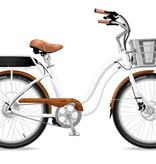 Electric Bike Company Model S White Wooden Chain Guard Fenders SLV Basket