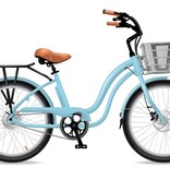Electric Bike Company Model Y  Island Paradise W/ Fenders Slv Basket Blk Rack