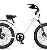 Electric Bike Company Model R White W/Rear Rack (No Basket)