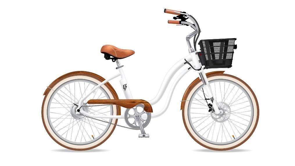 Electric Bike Company MODEL Y WHITE SUSPENSION WOOD GUARD FENDERS RACK